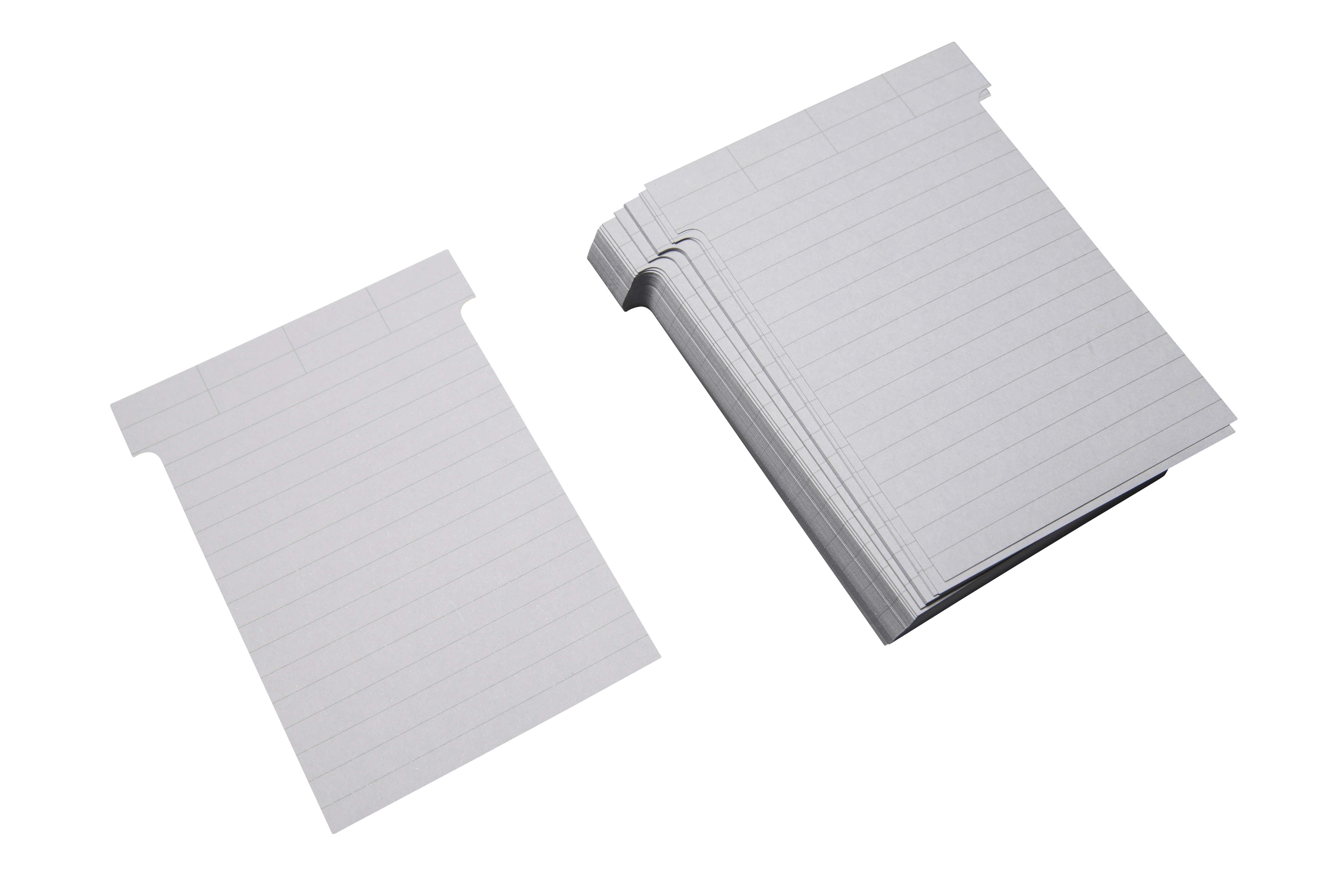 T-Karten zur Beschriftung per Hand (liniert)