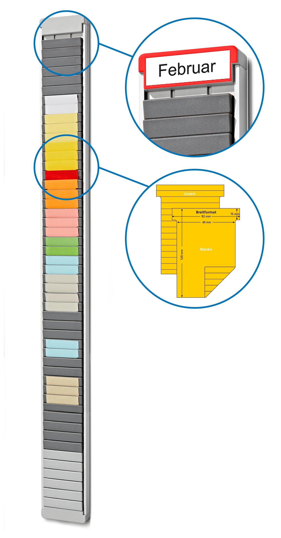 T-Karten Boards 30 Schlitze (Breite x Höhe (mm): 114 x 510 mm)